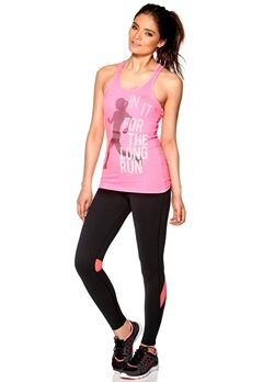 ONLY PLAY Twisted Training Top Grey/Neon Pink Bubbleroom.se
