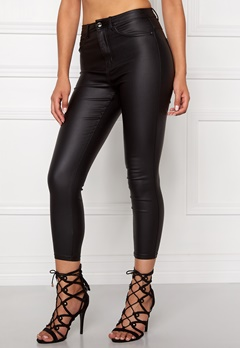 ONLY Royal HW Rock Coated Pant Black Bubbleroom.se