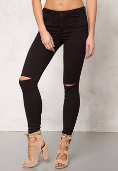 ONLY Royal Kneecut Jeans Black Bubbleroom.se