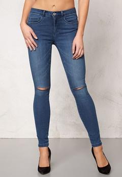 ONLY Royal Kneecut Jeans Medium Blue Denim Bubbleroom.se