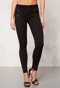 ONLY Royal Skinny Zip noos Black Bubbleroom.se