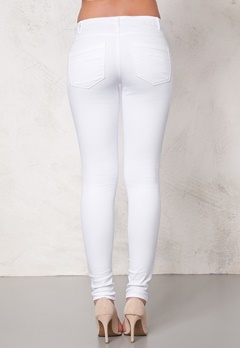 ONLY Royal skinny zip jeans White Bubbleroom.se