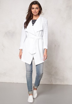 ONLY Runa Spring Coat White Bubbleroom.se