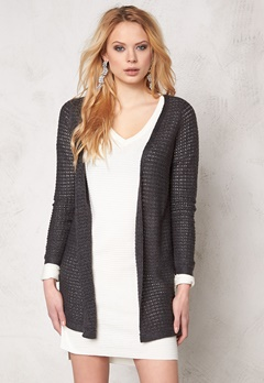 ONLY Sia l/s open cardigan Dark Grey Melange Bubbleroom.se