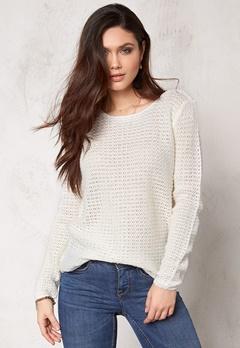 ONLY Sia l/s pullover knit Cloud Dancer Bubbleroom.se