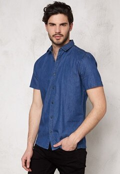 ONLY & SONS Adam SS Shirt Medium Blue Denim Bubbleroom.se