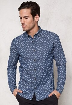 ONLY & SONS Adrian LS Shirt Medium Blue denim Bubbleroom.se