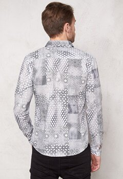 ONLY & SONS Arno LS Shirt Cloud Dancer Bubbleroom.se