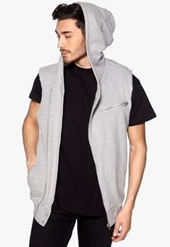 ONLY & SONS Biker Hoodie Light Grey Melange Bubbleroom.se