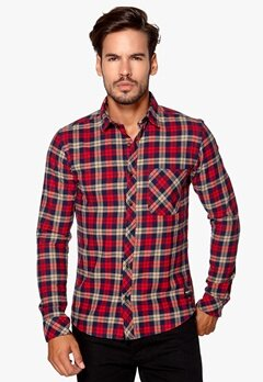 ONLY & SONS Carstem LS shirt Deep claret Bubbleroom.se