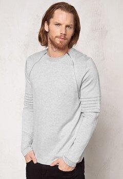 ONLY & SONS Crew neck knit Light grey melange Bubbleroom.se