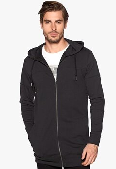 ONLY & SONS Davin longline zip Black Bubbleroom.se