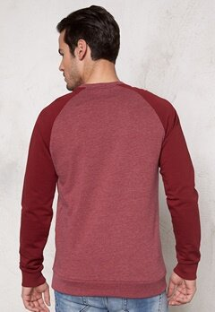ONLY & SONS Fan Raglan Crew Neck Cabernet Bubbleroom.se
