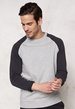 ONLY & SONS Fan Raglan Crew Neck Light grey melange Bubbleroom.se