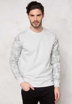 ONLY & SONS Hans AOP Crew Neck Oatmeal Bubbleroom.se