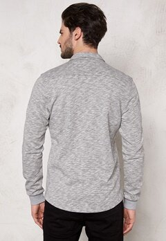ONLY & SONS Helmut Jersey Shirt Light Grey Melange Bubbleroom.se