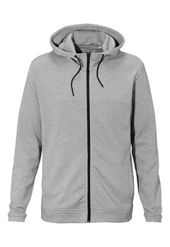 ONLY & SONS Holden zip hood Light grey melange Bubbleroom.se