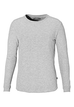 ONLY & SONS Karl ls structure tee Light grey melange Bubbleroom.se