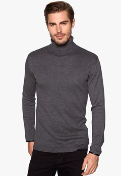 ONLY & SONS Keyon turtel neck Dark grey melange Bubbleroom.se