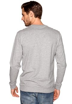 ONLY & SONS La Linea crew neck Light grey melange Bubbleroom.se