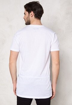 ONLY & SONS Magne Reg Long O-Neck White Bubbleroom.se