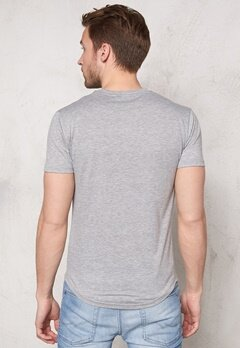 ONLY & SONS Meed Fish O-Neck Light Grey Melange Bubbleroom.se