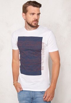 ONLY & SONS Net Fitted Tee White Bubbleroom.se