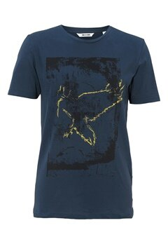 ONLY & SONS Norden Frontprint Tee Dress Blues Bubbleroom.se