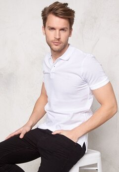 ONLY & SONS Pique Polo White Bubbleroom.se