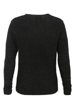 ONLY & SONS Sato Twist Knit Sweater Black Bubbleroom.se