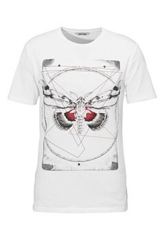 ONLY & SONS Skulls Fitted Tee White Bubbleroom.se