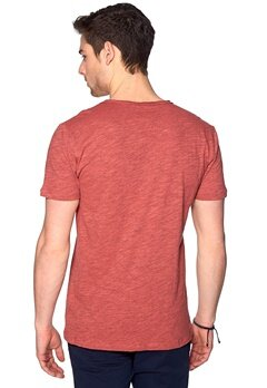 ONLY & SONS Thue o-neck Cranberry Bubbleroom.se