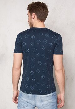 ONLY & SONS Zeon Aop O-Neck Mood Indigo Bubbleroom.se