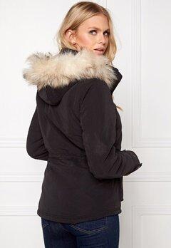 ONLY Starlight Fur Parka Black Bubbleroom.se