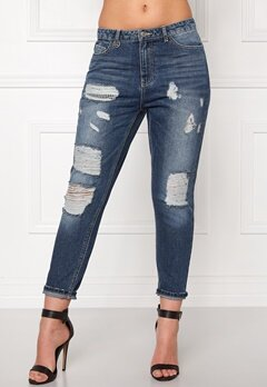 ONLY Tonni Boyfriend Jeans Medium Blue Denim Bubbleroom.se