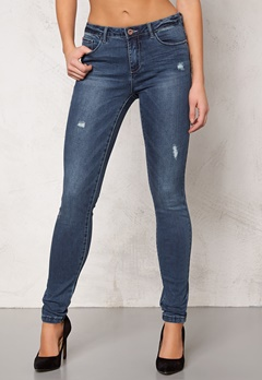 ONLY Ultimate Skinny Jeans nos Medium Blue Denim Bubbleroom.se
