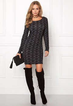 ONLY Viggy L/S Dress Black Bubbleroom.se