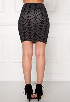 ONLY Viggy Skirt Ess Black Bubbleroom.se