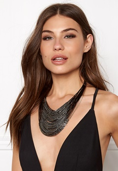 Make Way Otilia Necklace BlackGrey Bubbleroom.se