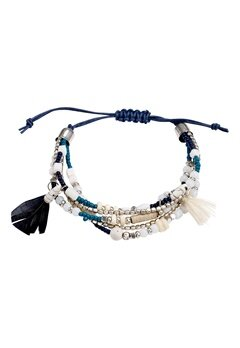 Pieces Perri bracelet Navy Blazer Bubbleroom.se