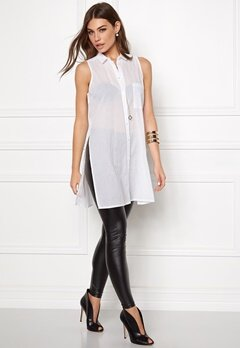 Pieces Bea Slit Shirt Bright White Bubbleroom.se