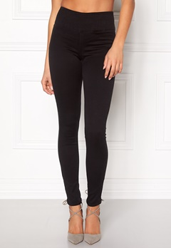 Pieces Betty High Waist Jeggings Black Bubbleroom.se