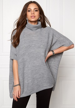Pieces Billi Poncho Light Grey Melange Bubbleroom.se