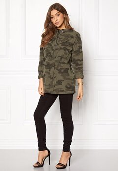 Pieces Camo Long Bomber Jacket Olive Green Bubbleroom.se