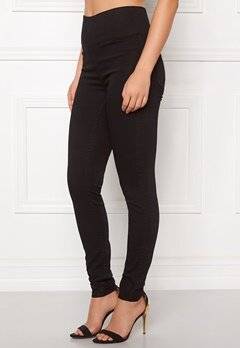 Pieces Just Jute HW Leggings Black Bubbleroom.se