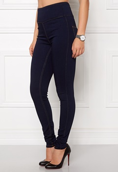 Pieces Just Jute HW Leggings Dark Blue Denim Bubbleroom.se