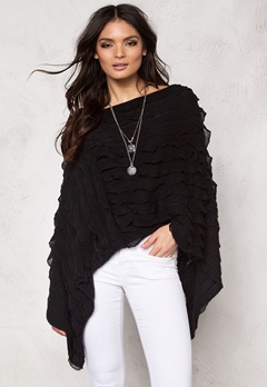 Pieces Kia Betty Poncho Black Bubbleroom.se