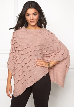 Pieces Kia Betty Poncho Fawn Bubbleroom.se