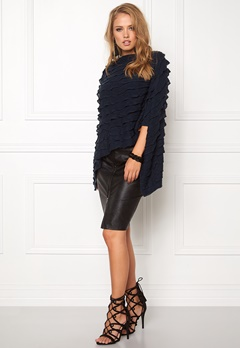 Pieces Kia Betty Poncho Navy Blazer Bubbleroom.fi