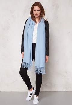 Pieces Kial Long Scarf Chambray Blue Bubbleroom.se